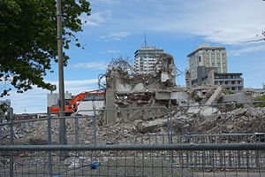 Christchurch Central Library - Christchurch Central Library during demolition