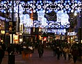 Christmas lights over New Street (looking towards the Bullring) (3160166821).jpg