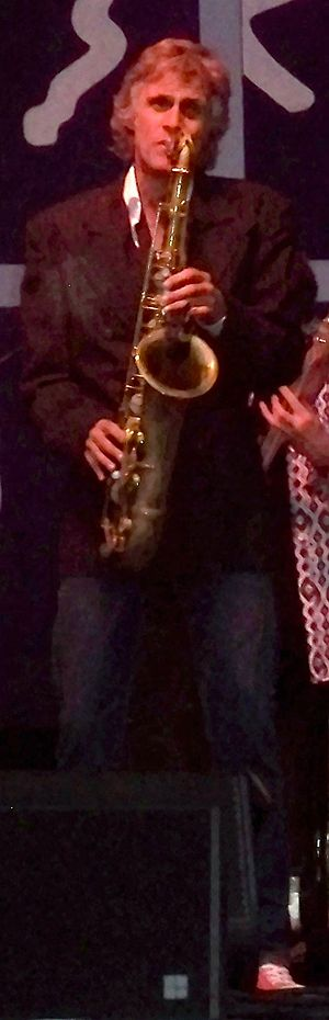 Chris White (saxophonist) - Chris White performing with The Straits at Guilfest 2012