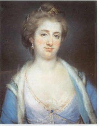 Augustus Hervey, 3rd Earl of Bristol - 18th century portrait of Elizabeth Chudleigh