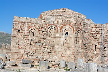 Church at the acropolis of Lindos 2010 2.jpg
