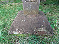 Church of the Holy Innocents, High Beach, Essex, England - churchyard Andrew Roddick monument base.jpg
