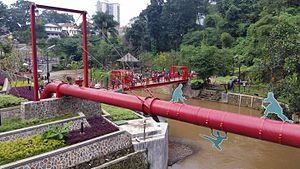 Cikapundung River - The Cikapundung River at Taman Teras Cikapundung, Bandung