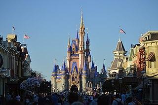 Magic Kingdom first of four theme parks built at Walt Disney World