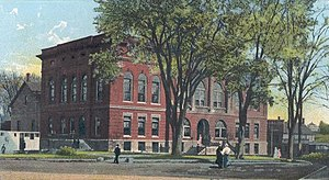 Waterville, Maine - City Hall and Opera House in 1905