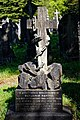 City of London Cemetery Benjamin Napper 1899 Harriet Foster 1897 grave cross and anchor headstone 1.jpg
