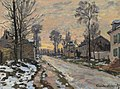 Claude monet route a louveciennes neige fondante soleil couchant.jpg