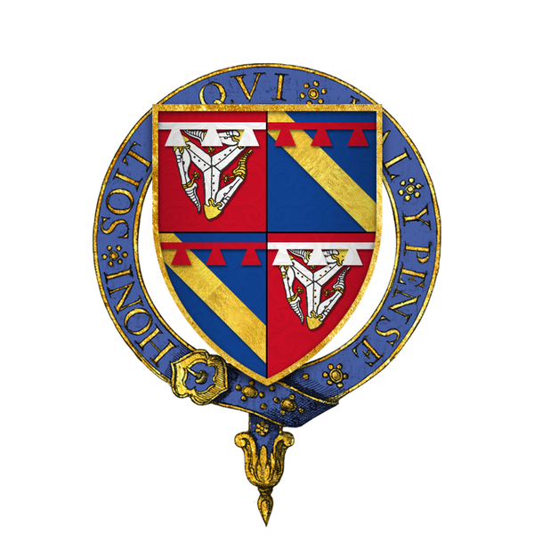 File:Coat of Arms of Sir William le Scrope, KG.png