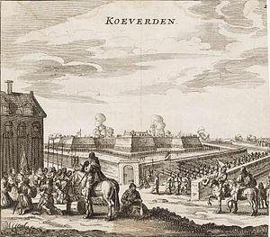 Siege of Coevorden (1592) - Image: Coevorden taken by Maurice of Nassau in 1592 Coevorden ingenomen door Maurits in 1592 (Johannes Janssonius)