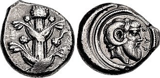 Barca (ancient city) - Coin minted in Barca in the Achaemenid Empire, dated 475-435 BC