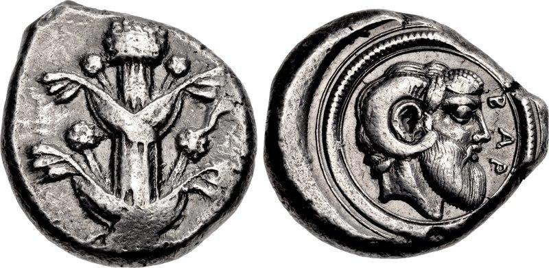 Coin minted in Achaemenid Barce (Barca)