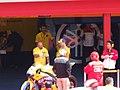 Colin Edwards at the Camel Yamaha Team garage 2006 Mugello.jpg