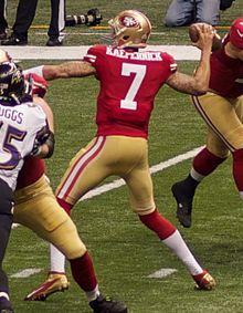 Kaepernick nel Super Bowl XLVII.