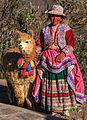 Colourful local dress of the Achoma area, 3500 m (8443308731).jpg
