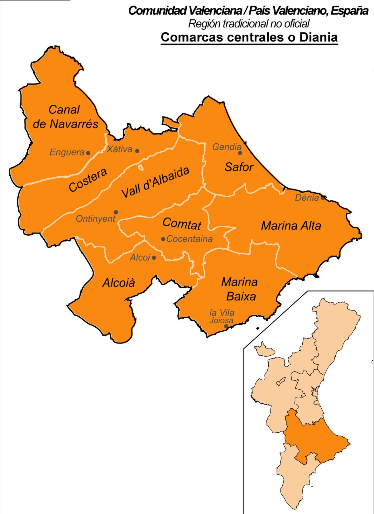 Comarcas Centrales De La Comunidad Valenciana