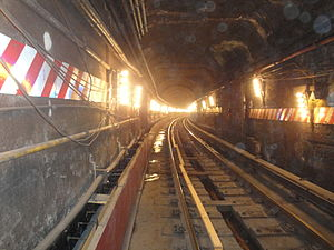 Dual Contracts - The IRT rebuilt the Steinway Tunnel, originally a trolley tunnel, for subway use.