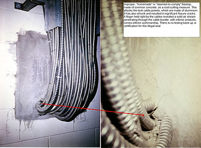 Cables with a concrete seal