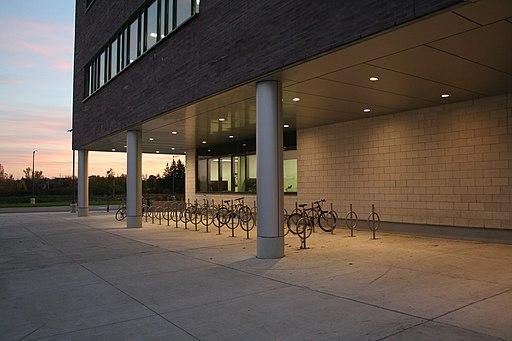 Conestoga College Cambridge Campus Bike Rack 21-Oct-2012