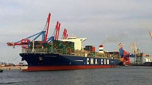 CMA CGM Kerguelen - CMA CGM Kerguelen arrives Terminal Burchardkai in Hamburg 1 August 2015