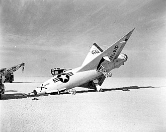 Convair XF-92 - Landing accident, 1953