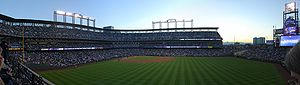 Coors Field - Panorama of Coors Field on the night of Game 4 of the 2007 World Series