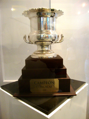 CONCACAF Champions League - Champions' Cup trophy won by CD Olimpia in 1972