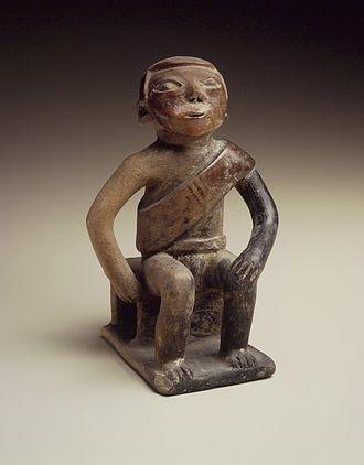 Coca - Coquero (Figure Chewing Coca), 850–1500 C.E. Brooklyn Museum