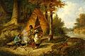 Cornelius Krieghoff - Famille indienne dans la forêt (1851).jpg