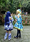 Cosplayers of Umi Sonoda and Eli Ayase at Wangjianglou Park 20150926.jpg