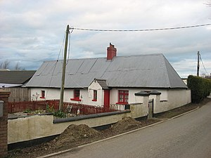 Fingallian - Traditional cottage, Knocknagin, Fingal. The cottage would have been originally thatched