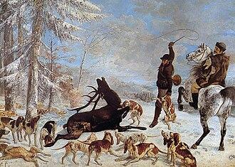 Killing a Deer - Image: Courbet L'Hallali du cerf