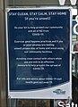 Covid-19 'Alert Level 3' library notice, Waikanae.jpg
