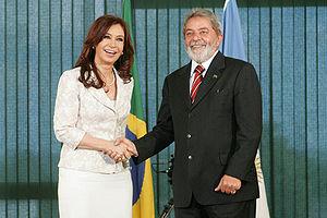 Presidency of Cristina Fernández de Kirchner - Cristina Kirchner with former Brazilian President Lula