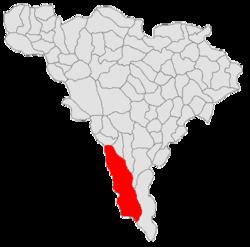 Poziția localității Cugir