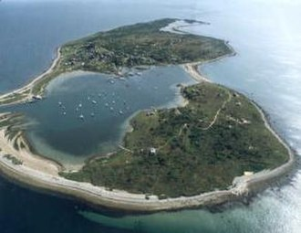 Cuttyhunk Island - An aerial view of the island