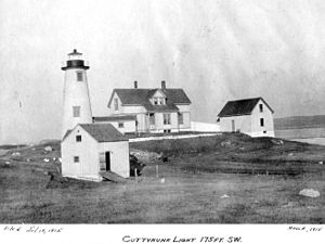 Cuttyhunk Light - The 1915 Lighthouse, USCG photo