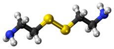 Ball-and-stick model of the cystamine molecule