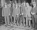 Départ de Painlevé au Maroc, Painlevé, Laurent Eynac, Jacquemot, en gare d'Orsay le 9-6-1925.jpg