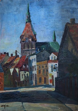 "St. Mary's Church, Rostock - Dörte Helm ""St. Mary´s Church"" (1916)"