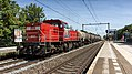 DB Cargo 6520 storming through Dordrecht-Zuid railway station with a mixed freighttrain (37767763395).jpg