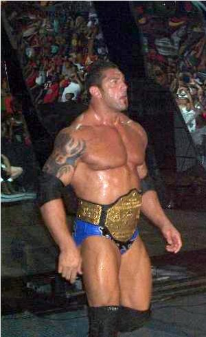 Dave Bautista - Batista in September 2005 as the World Heavyweight Champion