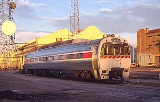 Budd SPV-2000 - The Federal Railroad Administration's SPV-2000 inspection car at Union Station in Phoenix, Arizona, in 1990.
