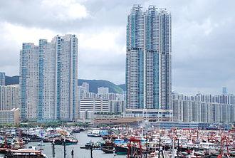 Sai Wan Ho - Les Saisons and Grand Promenade facing Shau Kei Wan Typhoon Shelter.