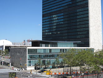 Dag Hammarskjöld Library - The Library sits just south of the UN Secretariat building in New York.