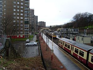 Dalmuir railway station - View from Duntocher Road