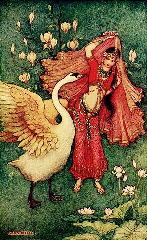 Damayanti - Image: Damayanthi and swan