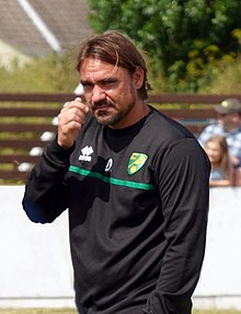 Daniel Farke prior to his first game in charge of Norwich City in England against Lowestoft Town