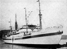 Danish hospital ship Jutlandia in Korea 1951.jpg