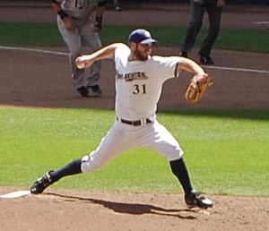 Dave Bush - Bush with the Milwaukee Brewers in 2009
