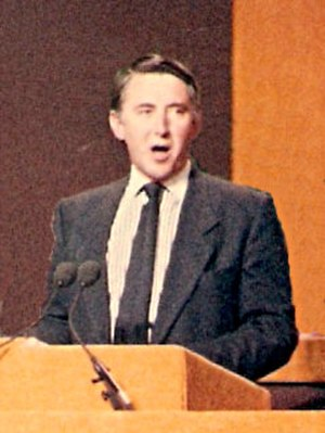David Steel - Steel addressing the Liberal Party assembly in Harrogate on merger in 1987